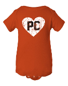 Onsie PC Heart on Orange